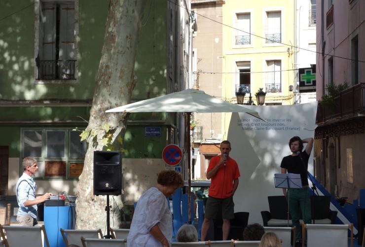 Les éditions au festival Voix Vives de Sète