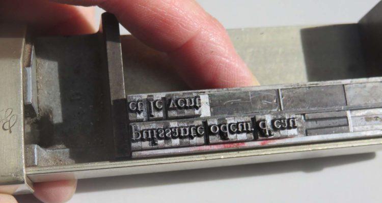 Un atelier typographie au festival Moins les murs !