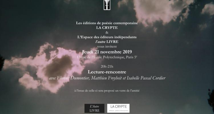 21 novembre / Lecture-rencontre à la librairie l'autre LIVRE